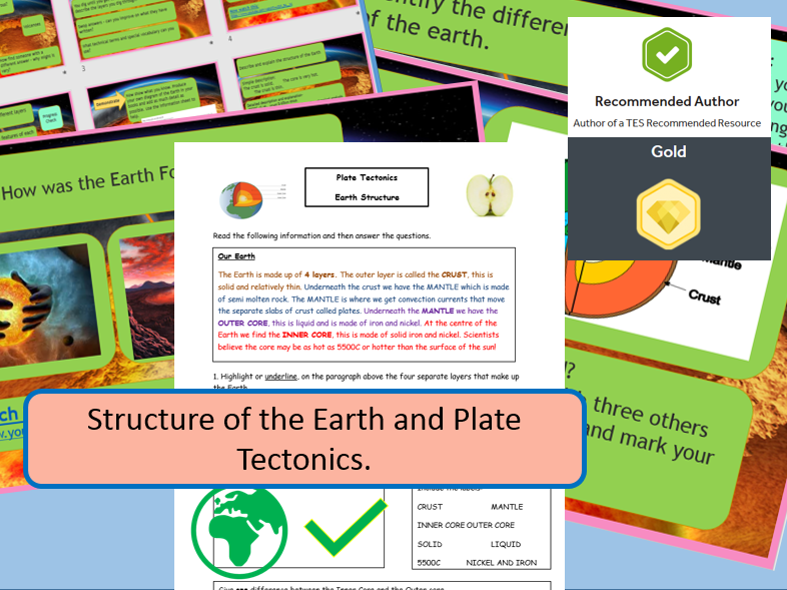 The Structure of the Earth. Complete Lesson and Supporting Materials.