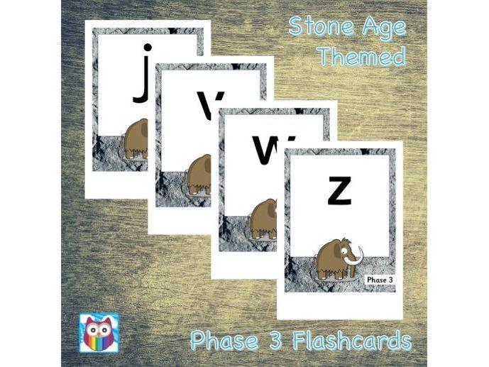 Phase 3 Phonemes - Stone Age Themed