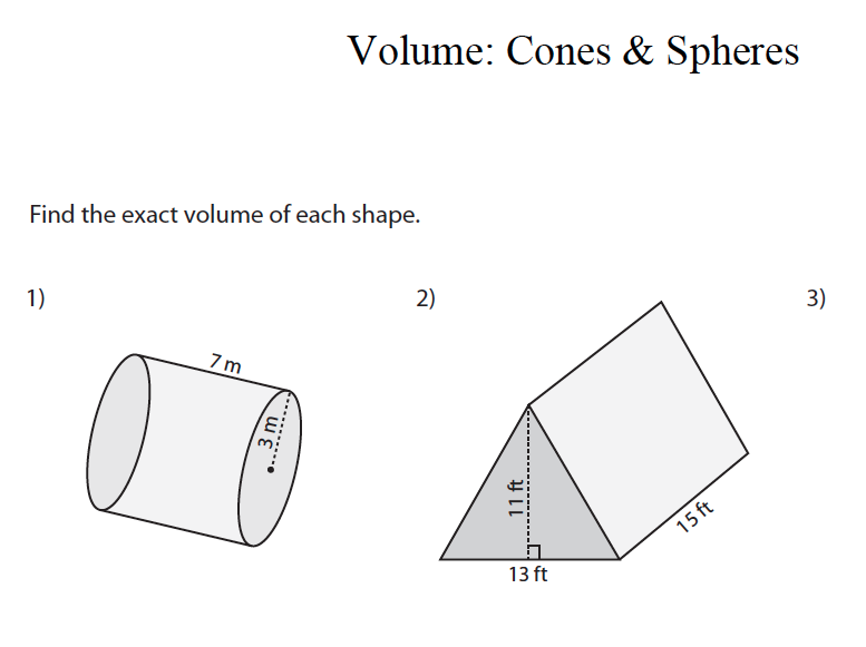 GCSE Maths Revision: Volume of Cones and Spheres