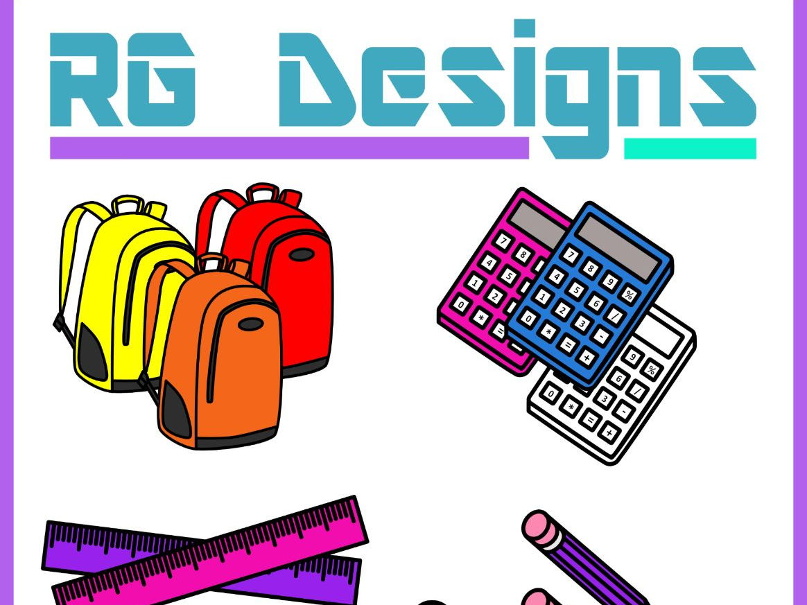 Back to School Clip Art Bundle- 220 Images
