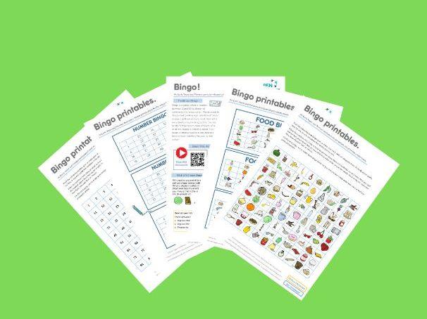 Bingo! An EYFS/KS1/KS2 Family Home Learning Sheet