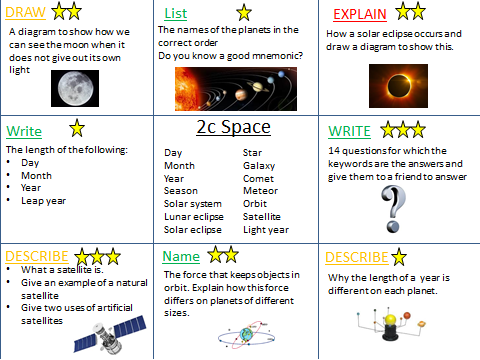 Revision activities for KS3 topics budle