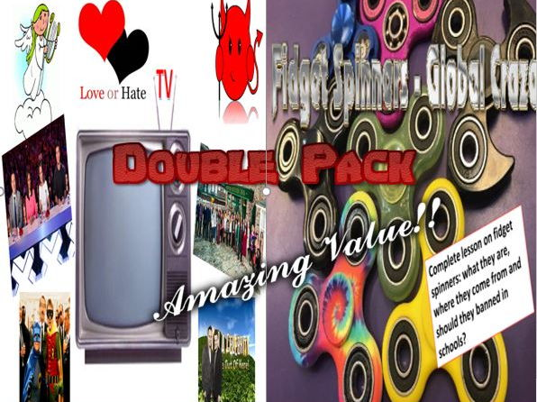 TV Love and Hate, Critical Writing and Fidget Spinners Double Pack with Starters