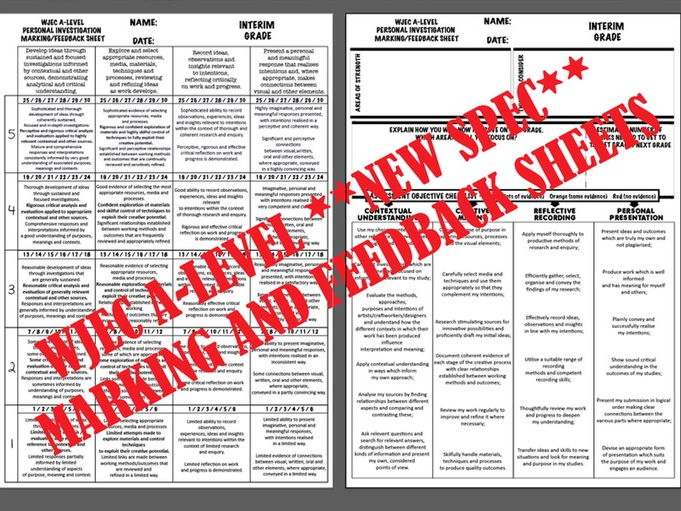 A-LEVEL MARKING/FEEDBACK SHEET - WJEC *New Spec*