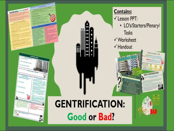 AQA A Level Geography - Gentrification Lesson