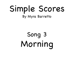 Simple Scores. An easy arrangement for a beginner orchestra. 3. Morning