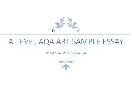 A-Level Art Sample Essay