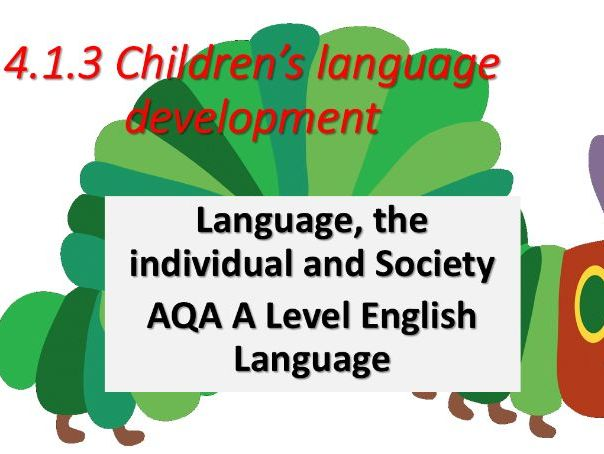 AQA English Language A Level. Children's language Development