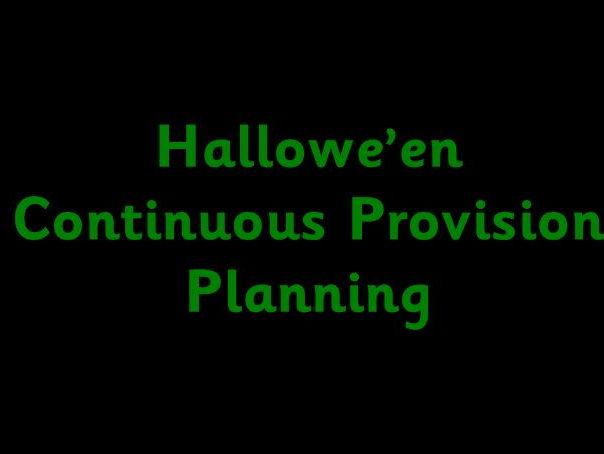 Hallowe'en Continuous Provision enhancements