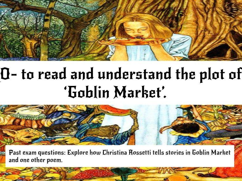 Goblin Market by Christina Rossetti Pearson Edexcel A Level Paper 3 9ET0