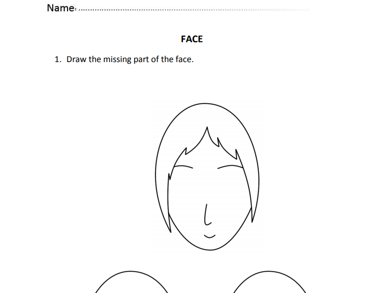 Face drawing for Nursery and Reception Students