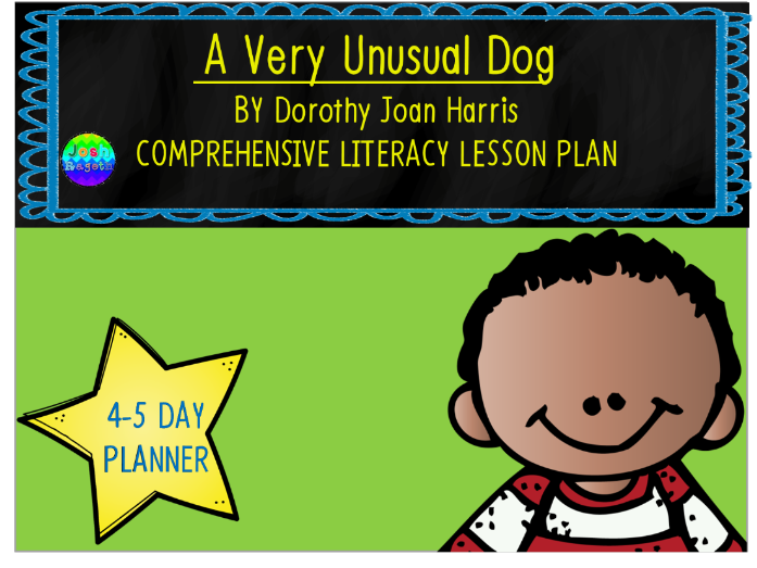 A Very Unusual Dog by Dorothy Joan Harris 4-5 Day Lesson Plan
