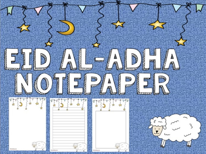Eid Al-Adha Notepaper