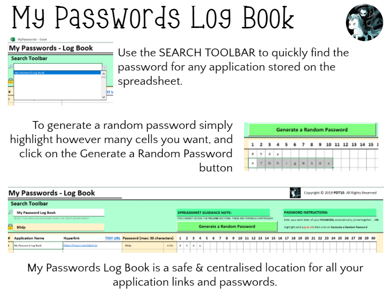 My Passwords - Log Book