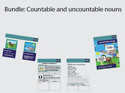 Countable and uncountable nouns KS3 bundle