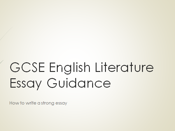 AQA GCSE English Literature essay guidance