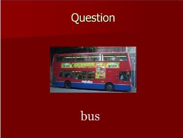 English as an Additional Language Bingo - Transport