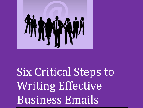 Business Emails for ESOL Learners - Six Critical Steps E-book