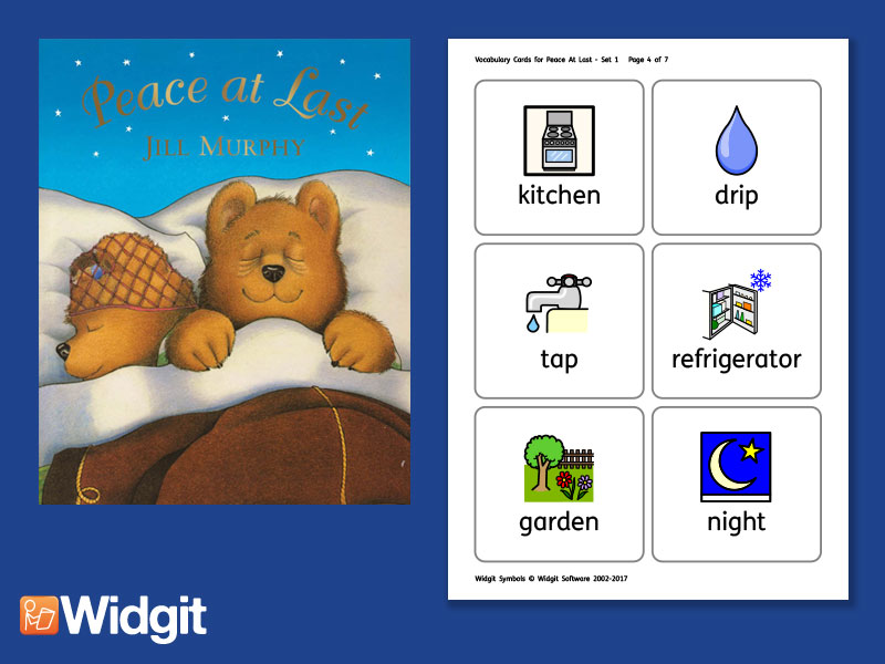 Peace At Last - Big Book Flashcards with Widgit Symbols
