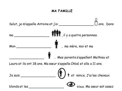 French activities (speaking, reading, writing)