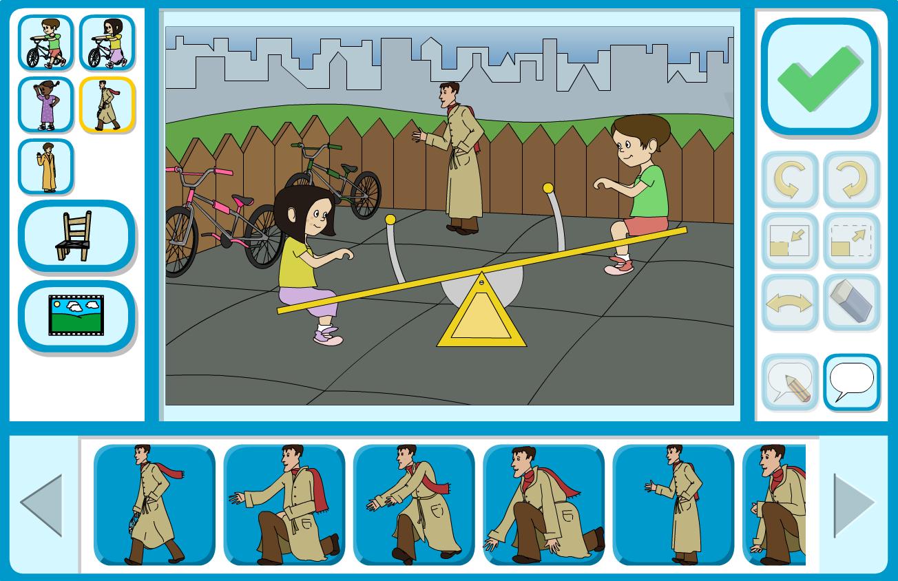 Sam and Ella at the Park Interactive Storyboarder - KS1 Literacy