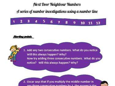 Next Door Neighbour Numbers: 8 Starting Points