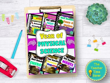 Physical Science Printable Year Bundle