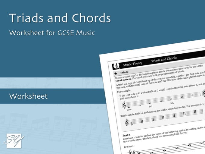 Understanding Music: Triads and Chords Worksheet for GCSE and A Level Music