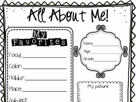 All About Me Poster by zingbadabling96 - Teaching Resources - Tes