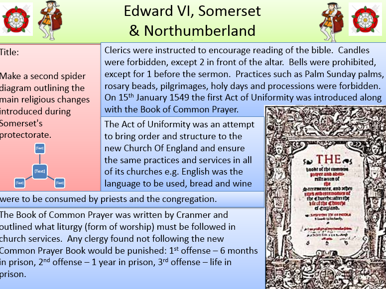 Edward VI - Somerset and Northumberland