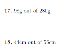 Expressing one quantity as a percentage of another (non-calculator) worksheet (with solutions)