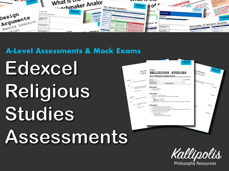 Edexcel KS5 Unit 1: Philosophy of Religion End-of-Topic Assessments