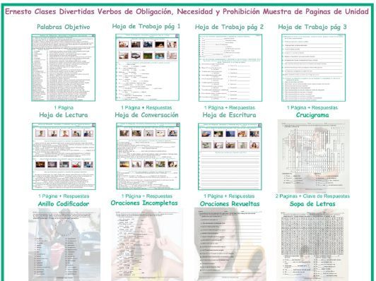 Modals of Obligation, Necessity and Prohibition Spanish Unit Bundle