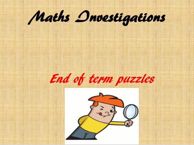 End of Term Maths Investigations KS2