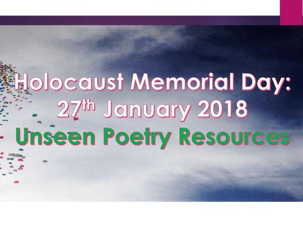 Holocaust:  Unseen Poetry Practice