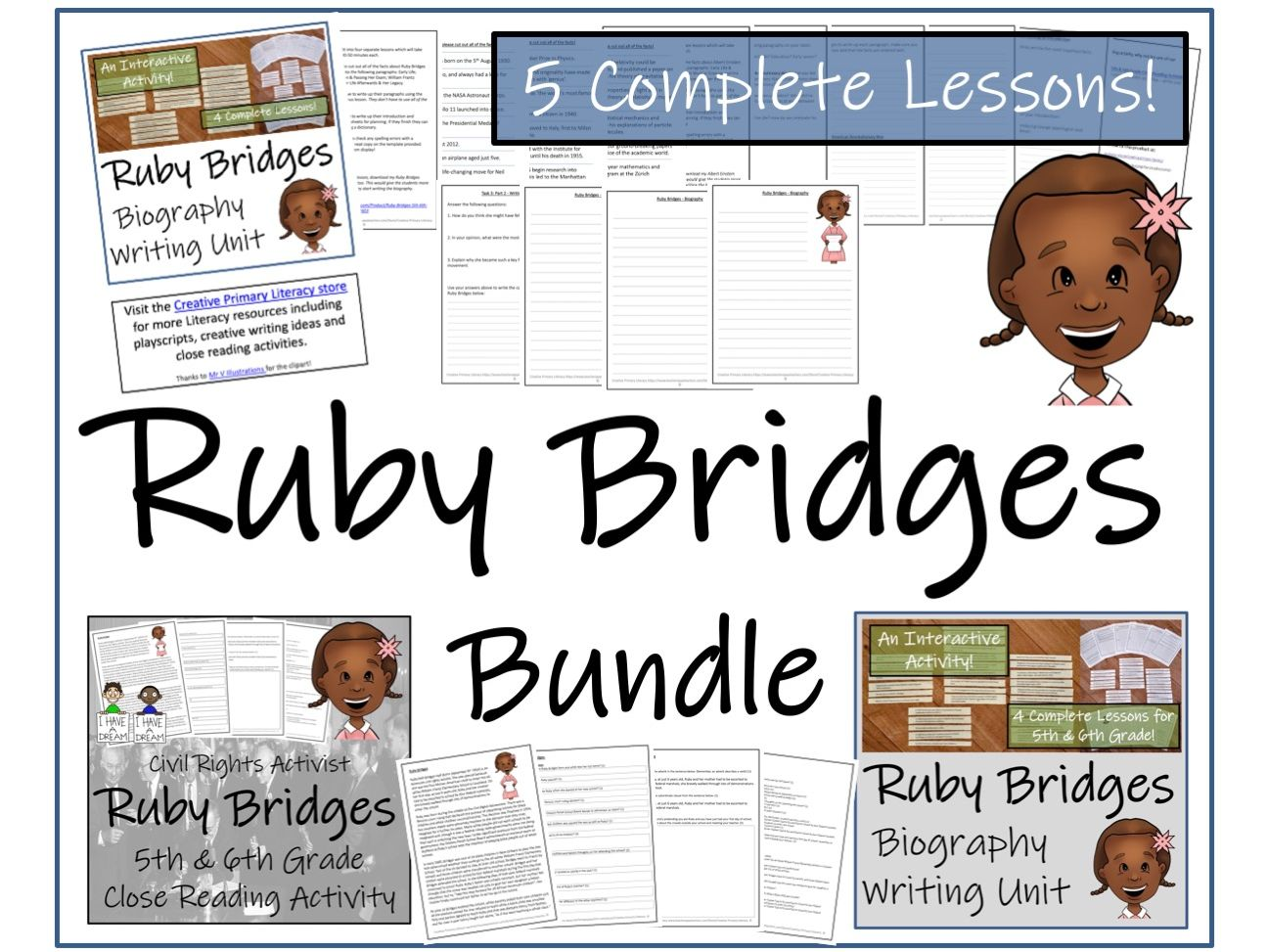 UKS2 History - Bundle of Activities about Ruby Bridges