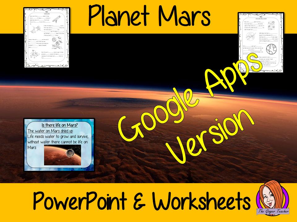 Distance Learning Planet Mars Google Slides Lesson