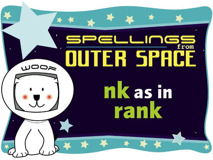Year 1 Spellings from Outer Space: NK as in RANK
