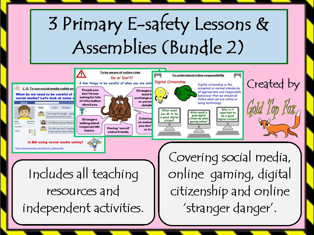 Three E-Safety Assemblies or Lessons for Primary Internet Safety (Bundle 2)