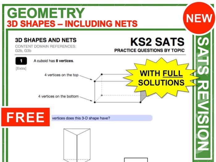 Y6 Maths SATs Revision (3D-Shapes + Nets)