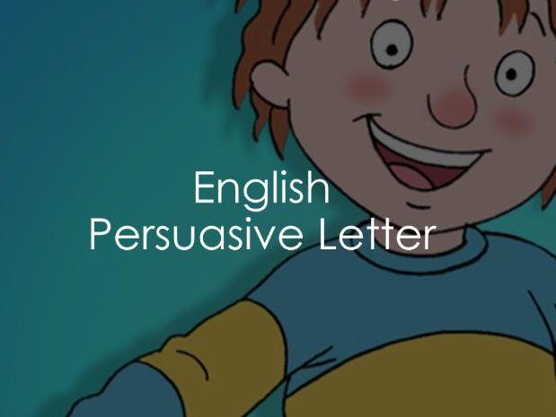 English - Persuasive Letter
