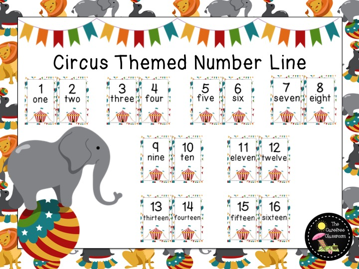 Circus Themed: Number Line