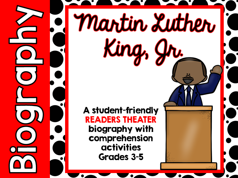 Martin Luther King Jr. readers theater with common core aligned pages