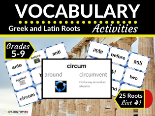 Greek and Latin Roots Activities-Vocabulary List #1