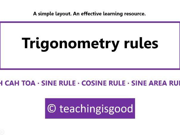 Trigonometry rules