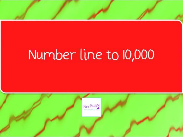 7. Number lines to 10,000 lesson pack (Y4 NPV)