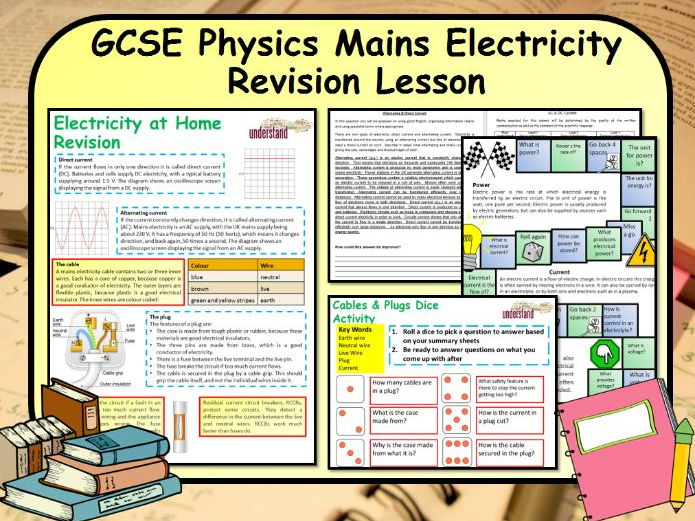 GCSE Physics Mains Electricity Revision Lesson | Teaching Resources