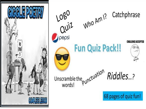 Giggle Poetry + Fun Quiz Pack with Harris Burdick Starters