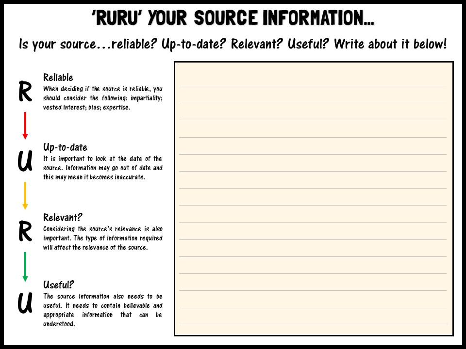 'RURU' your source information...