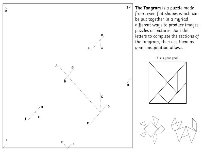 Tangram Creation Helper Sheet